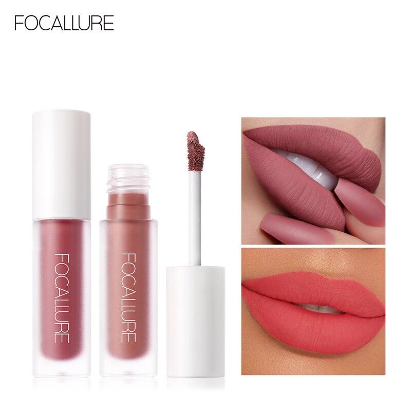 FOCALLURE Lipgloss Waterproof Cosmetic Matte Velvet Lip Batom Makeup Sexy Liquid Lip Gloss