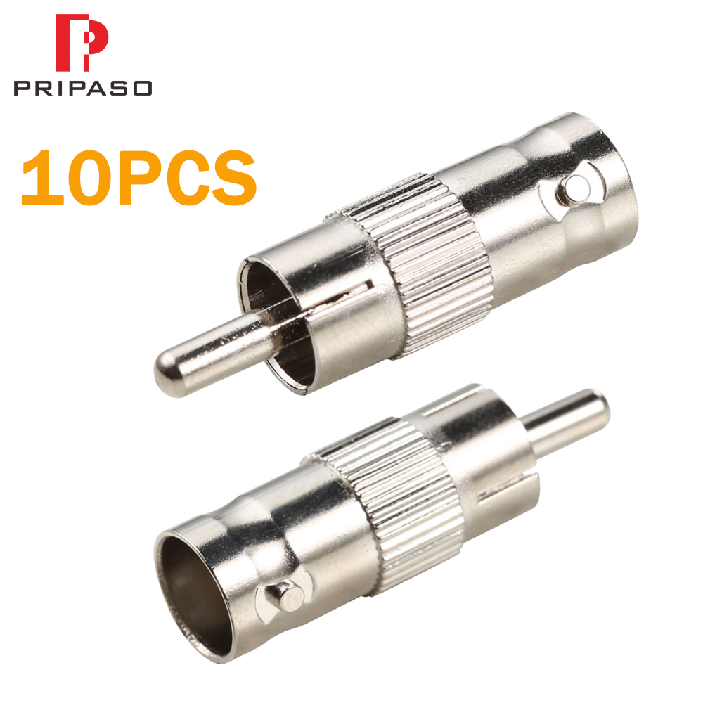 CCTV Cameras Accessories 10pcs Bnc Connector Female To Rca Connector Male Coupler For Security System Video CCTV Camera