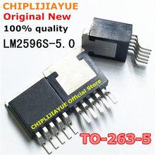 10PCS LM2596S-5.0 TO263-5 LM2596SX-5.0 LM2596S 5.0 LM2596 TO-263-5 Novo e Original Chipset IC