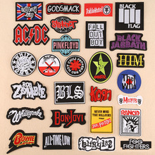 Personality punk rock style English letter paste patch sewing sewing clothing accessories embroidery patch цена и фото