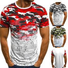 E baihui новая летняя мода футболка для мужчин 3d принт камуфляж