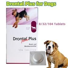 Drontal Plus для собак, 8/32/104 таблеток (дегельмер для собак), быстрая доставка