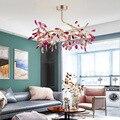 Свадебная пурпурная люстра из агата  светодиодный светильник с рубином для гостиной  столовой  люстры  лампа для кухни  бара  освещение