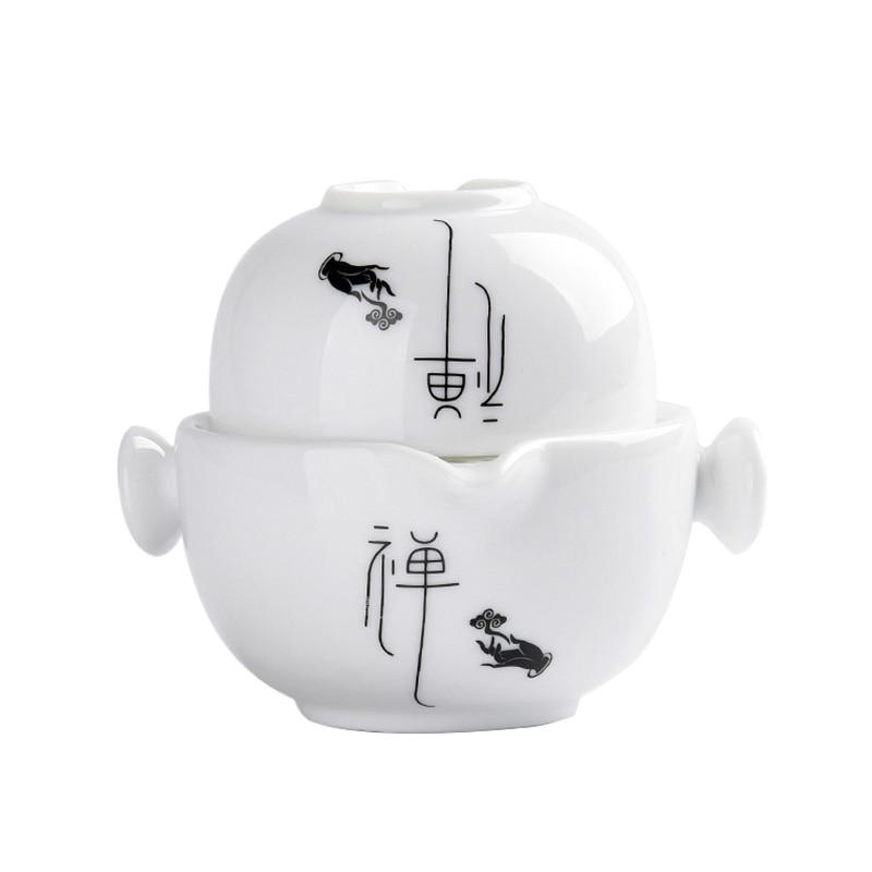 Tea Set Ceramic Tea Cup Teapot Travel Teaware Set Vintage Cup Bowl Tea Tureen Master Puer Cups Drinkware Crafts Decoration Gift