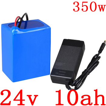 24V 250W 350W battery 24V 10AH electric bike battery 24V 10AH 11AH 12AH lithium battery pack with 15A BMS and 29.4V 2A charger