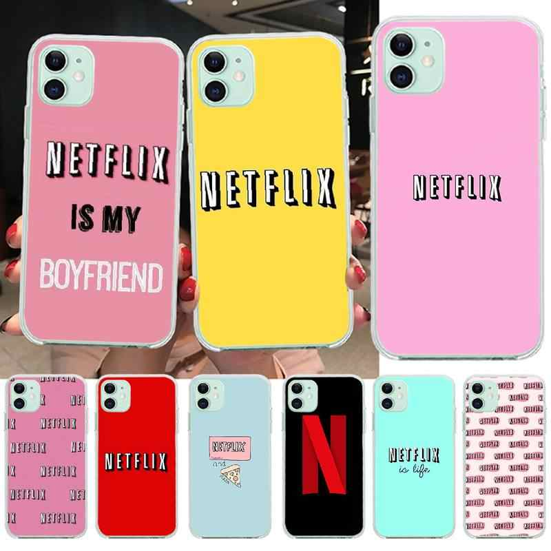PENGHUWAN netflix is my boyfriend DIY Printing Phone Case cover Shell for iPhone 11 pro XS MAX 8 7 6 6S Plus X 5S SE XR cover