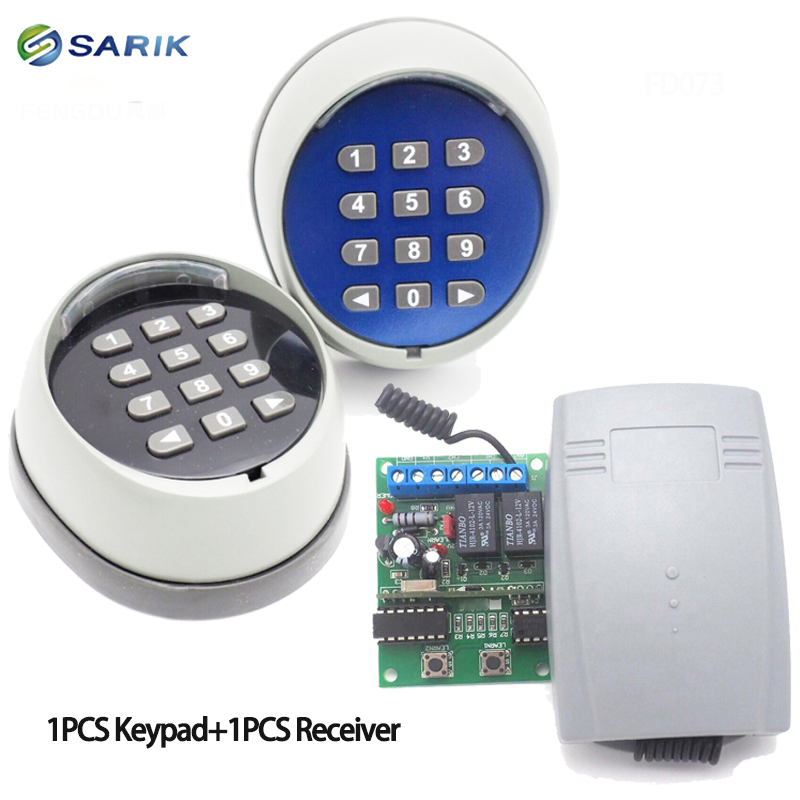 Wireless Keypad Password Switch  And 433 Receiver For Garage Gate Door Access Control 433MHz High Quality