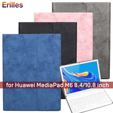 Magnetic Tablet Case with Keyboard for Huawei MediaPad M6 8.4 10.8 inch Wireless Cover Smart Leather