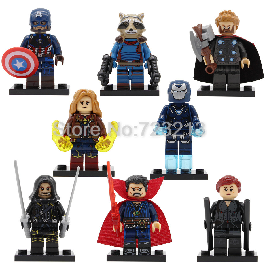 Avengers Endgame Super Hero Figure Thor Doctor Strange Pepper Black Widow Captain America Building Blocks Brick Toys Legoing