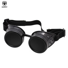 Get more info on the ROAOPP Retro Black Goggles Heavy Metal Steampunk Gothic Style Goggles Welder Glasses Welding Labor Protective Goggles