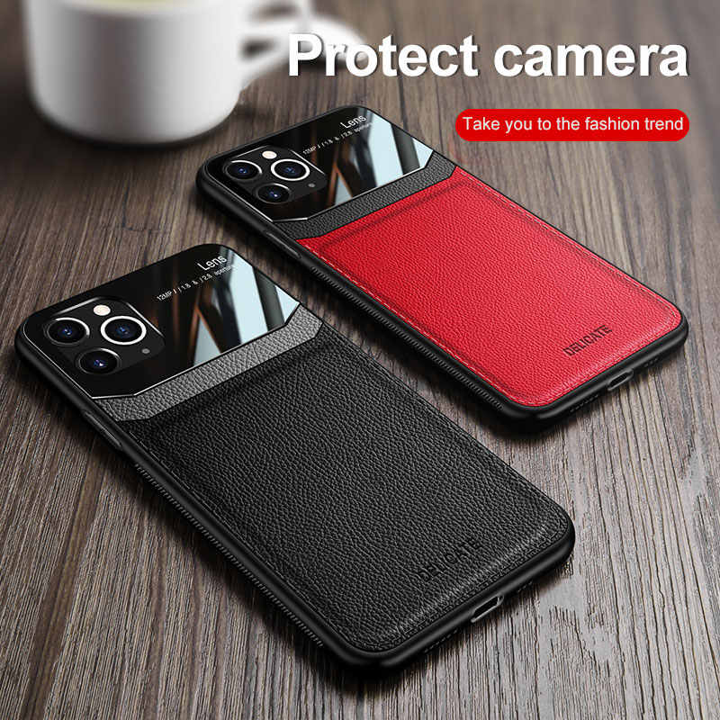 Telefoon Case Voor Iphone 11 Pro Max Case Business Pc Korrels Retro Pu Leer Bumper Voor Iphone 11 Pro Max xs Xr X 8 7 6 S 6 Plus