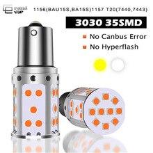 цены на 1PCS P21W LED 1156 BA15S PY21W BAU15S 3030 35SMD Bulb Canbus Free T20 7440 W21W LED Lamp For Car Turn Signal Light Amber White  в интернет-магазинах