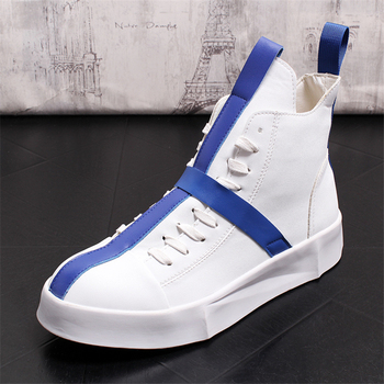 Spring Autumn Ankle Boots For Young Men Genuine Leather Boots Fashion Work Boots Men Boots Thick Bottom High Top Men Shoes