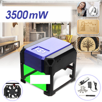 3500mW USB Desktop Laser Engraving Machine Printer Cutter DIY Logo Marking Mini CNC Engraving Carving 80x80mm for Windows