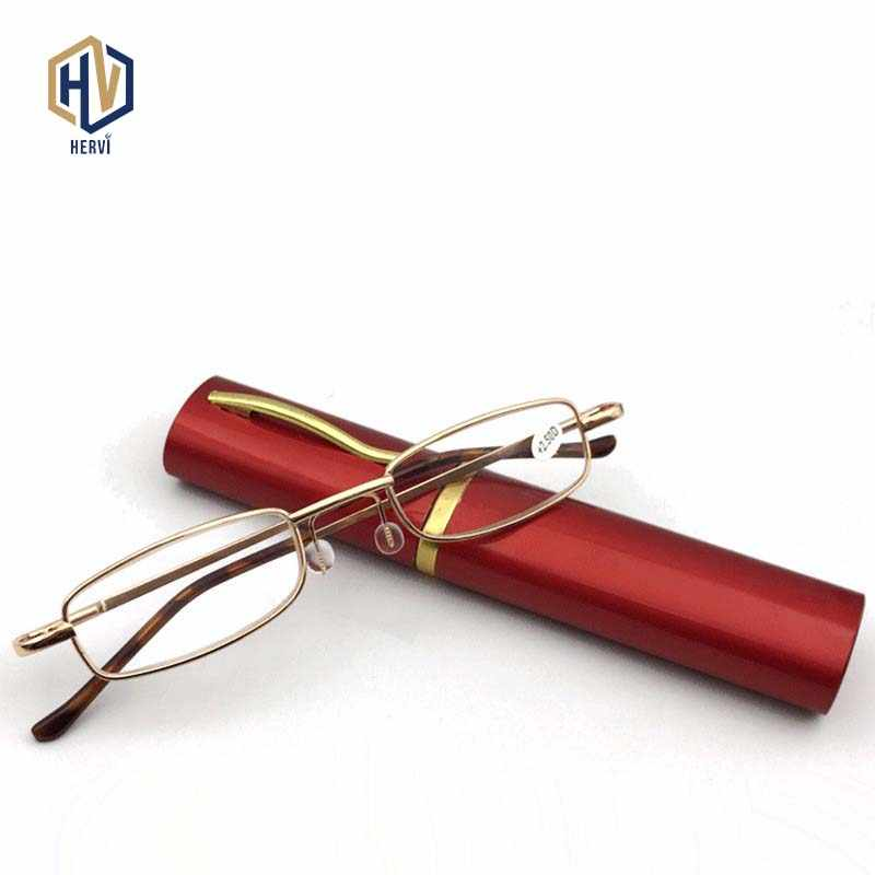 MOLNIYA 6 Color Portable Metal Pen Reading Glasses Ultralight Resin Presbyopic Glasses With Pen Case Women Men Elder Gifts