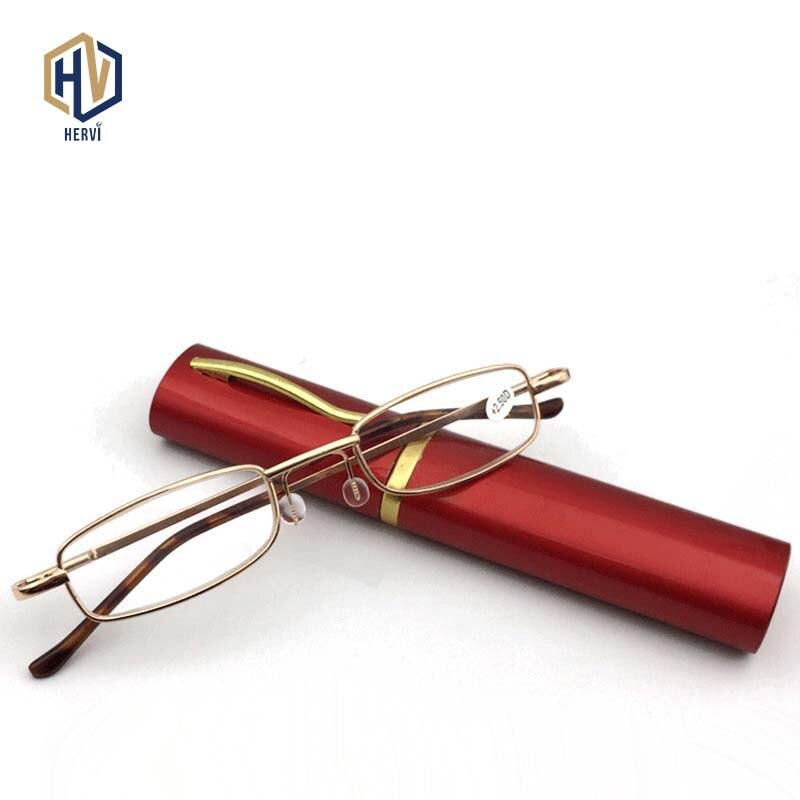 MOLNIYA 6 Color Portable Metal Pen Reading Glasses Ultralight Resin Presbyopic Glasses With Pen Case Women Men Elder Gifts