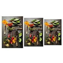 Настенное художественное полотно восхитительная еда приправа