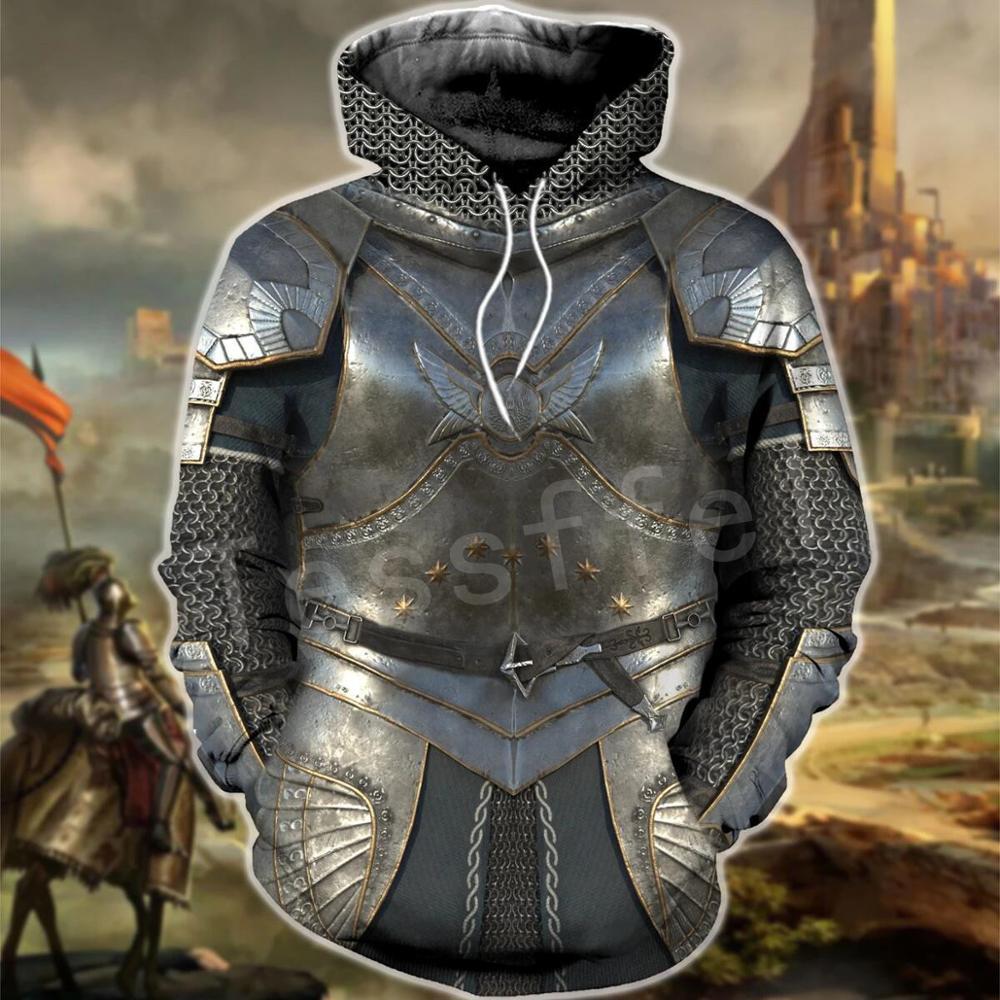 Tessffel Knights Templar Armor Pullover Streetwear Harajuku Tracksuit 3DfullPrint Zipper/Hoodies/Sweatshirt/Jacket/Men/Women S15