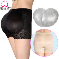 Underwear Women Add Pad To Raise Buttock Pure Cotton Silica Gel Abundant Buttock Womens Lingerie Peach Hips Toning Pants Tanga