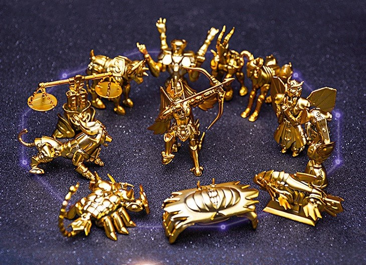 12pcs/set Saint Seiya The Gold Zodiac 12 Constellations Statue PVC Action Figure Collectible Model Toys Doll Dropshipping 6cm