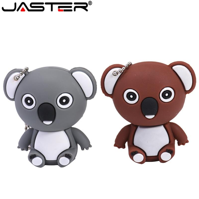 JASTER PendriveCute Animal Koala U Disk4GB 8GB 16GB 32GB 64GBUSB 2.0 Tool Memory Stick2.0 Usb Flash Drive Pendrive
