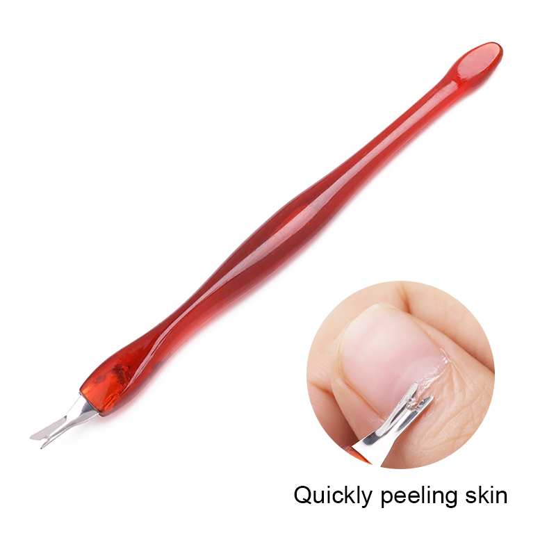 1PC Dead Skin Remove Fork Nails Art Cuticle Remover Tools Stainless Steel Trimming Pedicure Nails Art Care Tools Accessories