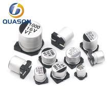 10 шт. 220 мкФ 16 В 6,3 мм% 2A7,7 мм SMD алюминий электролитический конденсатор