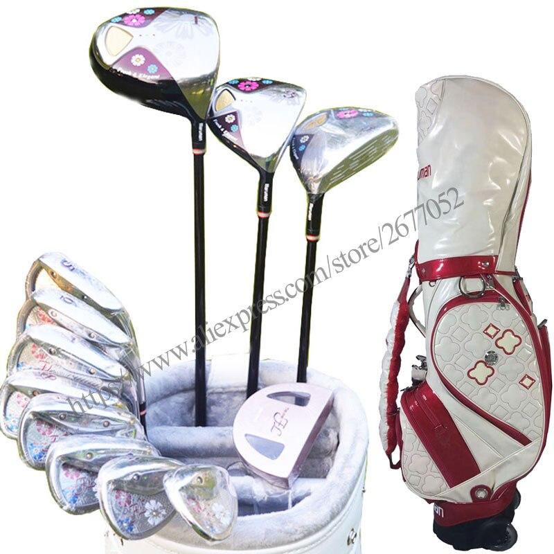 New Womens Golf Clubs Maruman FL Complete Clubs Set Golf Drive Fairway Wood Golf Irons Graphite Clubs Shaft Free Shipping