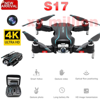 New Arrival S17 Rc Drone 4k with Dual Camera Optical Flow HD One key Return Adjustable Angle Camera Helicopter Quadcopter Toys
