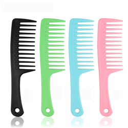 1 PC. Plastic Wide Tooth Hairdressing Comb Heat Resistant Woman Wet Detangle Curly Hair Brushes Pro Salon Styling Tools