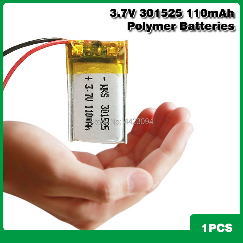 3.7V 110mAh Li-ion Battery <font><b>301525</b></font> Lithium Polymer Rechargeable Battery for GPS locator MP3 MP4 bluetooth speaker LED light image