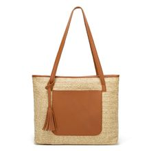 купить High Quality New Tassel Beach Straw Bag Shoulder Large Outdoor Travel Tote Bags Women's Woven Handbag онлайн
