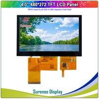 "4.3 ""480x272 40 p/24_bit rgb tft lcd 모듈 디스플레이 모니터 화면 4 선 저항/iic i2c 용량 성 터치 패널 LCD 모듈    -"