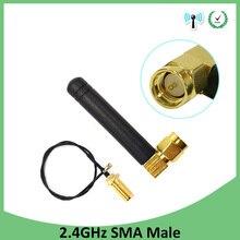 5 adet 2.4 GHz anten wifi 2dBi SMA erkek konnektör 2.4ghz anten yönlendirici Wi fi + 21cm RP SMA ufl. /IPX 1.13 Pigtail kablo