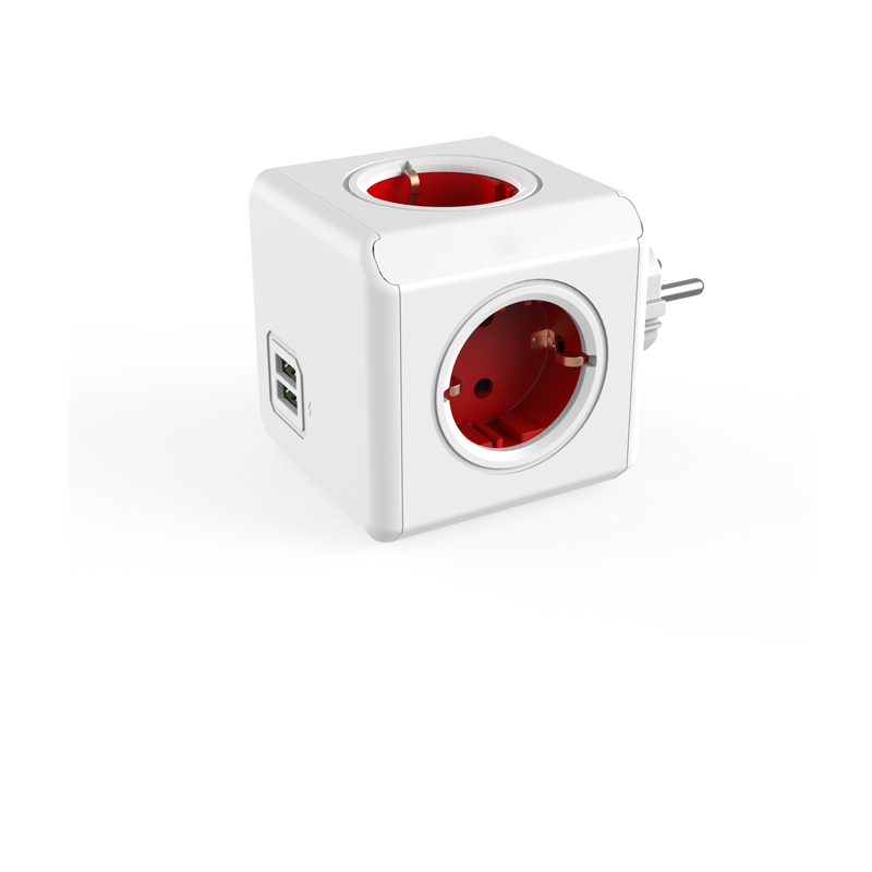 Prise de Cube de puissance pour la maison intelligente prise ue 4 prises 2 Ports USB adaptateur multiprise adaptateur d'extension multi-prises