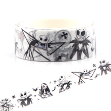 цена на CA130 The Nightmare Before Christmas Washi Tapes Painting paper Masking tape Decorative Adhesive Tapes Scrapbooking Stickers