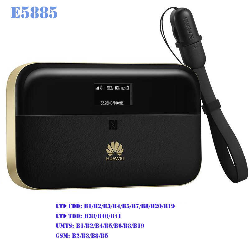 Nuovo Huawei E5885Ls-93a Router 4g cat6 300Mbps wifi hotspot tasca wi-fi sim card Ethernet 6400mAh E5885 Mobile wiFi