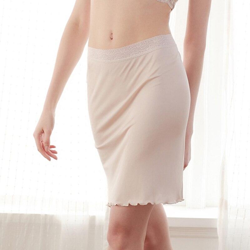 100% Pure Silk Women Sexy Intimates Sexy Slip Petticoat Slips Chemise Underskirt Petticoat Woman Underdress Enagua Half Slip