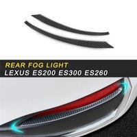 Hinten Nebel Licht Lampe Abdeckung Trim Rahmen Aufkleber Außen Zubehör Für Lexus es 2018 ES200 ES300 ES260 Auto Styling-in Kfz Innenraum Aufkleber aus Kraftfahrzeuge und Motorräder bei