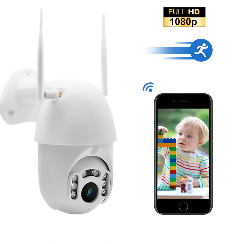 Valdus Wifi IP Camera Wireless Outdoor Audio CCTV Security Camera 1080P Cloud-SD Slot Waterproof Security Surveillance Cameras
