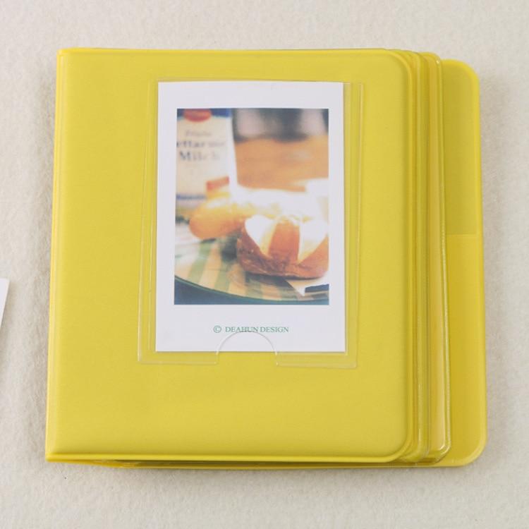64 Карманы Мини Мгновенный Полароид фотоальбом чехол для хранения для Кореи instax Мини альбом - Цвет: C