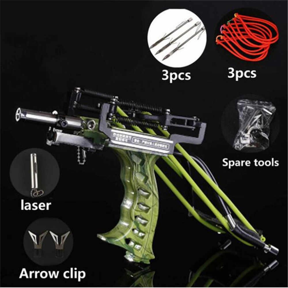 Potente fionda Laser da pesca da caccia fionda in acciaio inossidabile catapulta professionale potente fionda con elastico