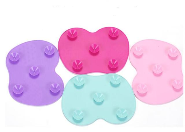 Silicone Makeup Brush Cleaning Pad Mat Brush Washing Tools Cosmetic Eyebrow Brushes Cleaner Tool Scrubber Board Makeup Cleaning 3