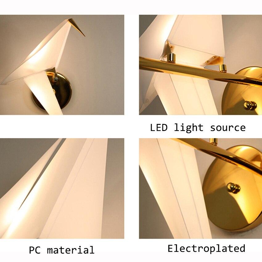 LED moderne mille papier grue suspension lumières éclairage nordique pastorale intérieur déco Loft suspension lampe salon luminaires - 5