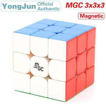 цена на YongJun MGC Magnetic 3x3x3 Magic Cube YJ 3x3 Magnets Speed Puzzle Brain Teaser Antistress Educational Toys For Children
