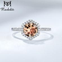 Kuololit Solid 925 Sterling Silver Rings For Women Girl Diaspore Zultanite Sultanite Gemstone Christmas Gift Part Fine Jewelry