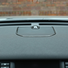 Center speaker cover frame trim For Land Rover Discovery Sport series dark wood grain mid console loudspeaker casing sticker