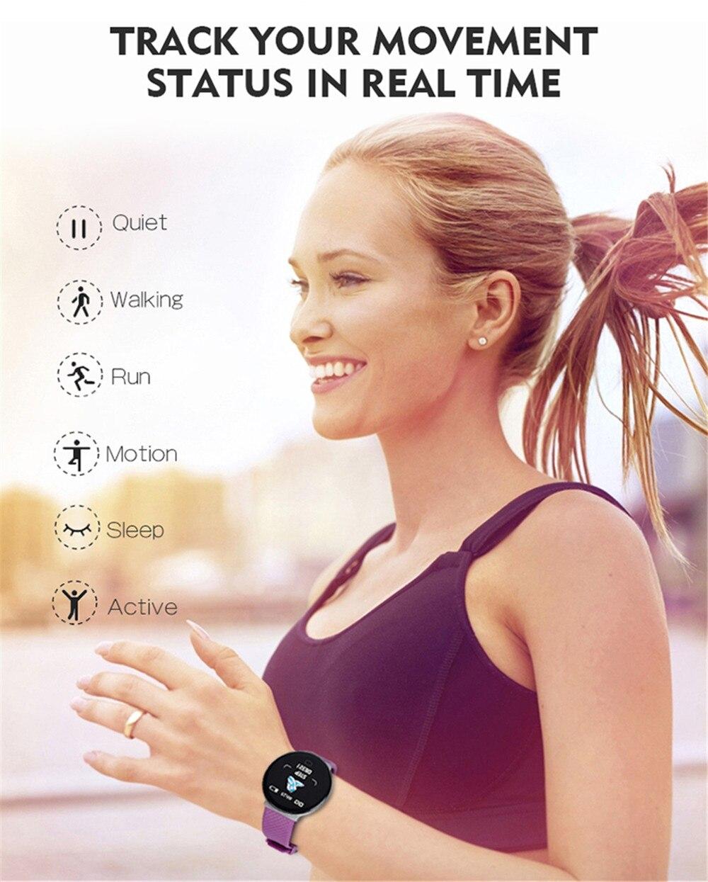 Hc2d46475d6e64e3b80a3814672726cfeN Smart Bracelet 1.3'' Screen Pedometer Fitness Tracker Ip67 Waterproof Blood Pressure Heart Rate Monitor Smart Band Women Men
