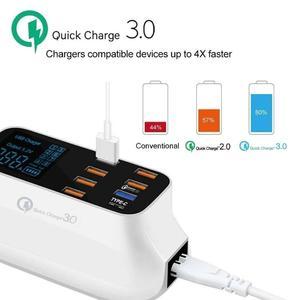 Image 5 - 8 יציאות Led תצוגת USB מטען עבור אנדרואיד iPhone מתאם טלפון Tablet מטען מהיר עבור xiaomi huawei samsung