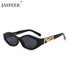 JASPEER Small Rectangle Sunglasses Women Brand Design Vintag
